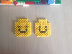 Hama bead lego minifigure heads - going to use them as wall art for Daniels lego themed bedroom