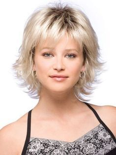 Details about Women Short Fluffy Blonde Hair Wigs with Bangs Synthetic Hair Wig Cosplay Wig - - Short Wavy Hair, Short Hair Cuts For Women, Short Blonde, Shag Hairstyles, Straight Hairstyles, Short Haircuts, Wedding Hairstyles, Wedge Hairstyles, Layered Hairstyles
