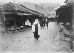 Sarajevo - 1892. - Baščaršija Ottoman Empire, Bosnia And Herzegovina, Vintage Photography, Old Pictures, Anthropologie, Street View, Country, Clothes, Accessories