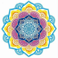 Chic Tassel Indian Mandala Lotus Printed - Yoga Mat - Round Beach Blanket