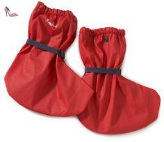 Playshoes  Regenfüßling Regenfüßlinge mit Fleece-Futter, verschiedene Farben, Oeko-Tex Standard 100, Chaussures souples pour bébé (fille) - Rouge - Rot (rot 8), M - Chaussures playshoes (*Partner-Link)