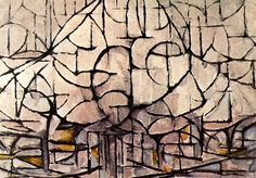 BEGINNING OF ABSTRACT ART starting from a tree --------------------------PIET MONDRIAN, FLOWERING TREES