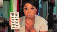 False Eyelash Tutorial ♡ She's hilarious. I love this lady she makes it so easy to see the trick into placing these.