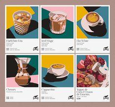 Behance :: Grafický design on Behance Food Graphic Design, Web Design, Graphic Design Posters, Graphic Design Inspiration, Layout Design, Food Illustrations, Illustration Art, Cafe Posters, Posca Marker