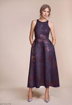 LK BENNETT: Koko jacquard dress, £595, lkbennett.com. Slingback heels, £59, topshop.com...