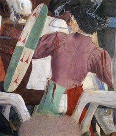 Battle between Heraclius and Chosroes (detail) 1452-66 Fresco San Francesco, Arezzo