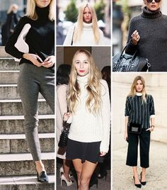 Stylish ways to wear a turtle neck.