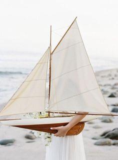 Model sailboat.
