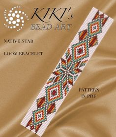 Bead loom pattern Native star LOOM bracelet pattern in PDF