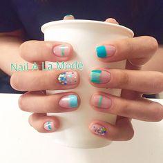 - 앵콜디자인🎉 - #네일어라모드 #nailsdesign #예쁜네일 #lovelynails #nails #gelnails #젤네일 #여름네일 Cute Spring Nails, Cute Nails, Pretty Nails, Gel Nail Art, Nail Manicure, Gel Nails, Minimalist Nails, Nail Swag, Magic Nails