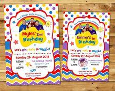 THE WIGGLES INVITATION PERSONALISED INVITE BIRTHDAY PARTY BOY GIRL PHOTO ANY AGE #CUSTOMINVITATION #Birthday