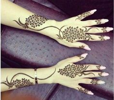 Bridal Omani Henna Designs for Hands, Muscat Mehndi Facebook Pics 2015