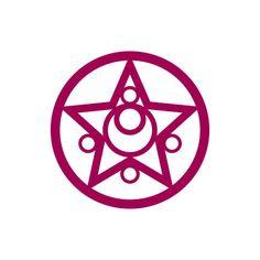Sailor Moon Vinyl Decal - Compact Star Logo / Laptop Decal / Car Sticker starting at $4.00