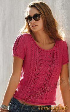 Пуловер с короткими рукавами (ж) 609 Creations 12/13 Bergere de France №2971