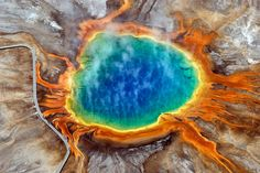 Grand Prismatic Spring, Yellowstone National Park. Looking almost alien, and definitely cool, the image below is of a geothermal pool located in Yellowstone National Park, USA. Known as the Grand Prismatic Spring, it is the largest geothermal pool in...