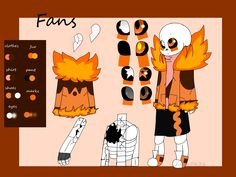 (made by me) this is Fans one of the principal character of the FireTale story  name : Sans nickname : Fans, Fancy, CC, Fluffy size : 4,2 age: around 16 to 19 year old