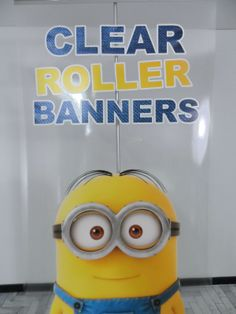 Clear roller banner close up..!