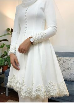 Sheer Wedding Dress, Best Wedding Dresses, Wedding Suits, Muslimah Wedding Dress, Kebaya Dress, Bridal Outfits, Muslim Fashion, Beautiful Dresses, Designer Dresses