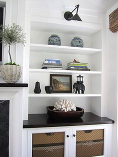 Love the simplicity of these bookcases