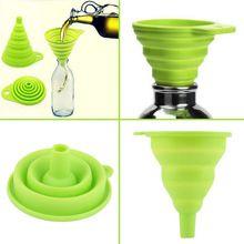 Di alta qualità 1 pz nuovo mini stile del gel del silicone pieghevole pieghevole imbuto tramoggia cucina strumenti di cottura(China (Mainland))