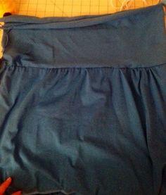Easy maxi skirt tutorial