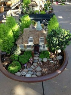 Miniature Gardens, Mini Gardens, Little Gardens, Small Gardens, Fairy Garden  Houses,