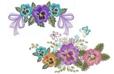 Pansy Delight Set, 10 Designs - 5x7 | What's New | Machine Embroidery Designs | SWAKembroidery.com