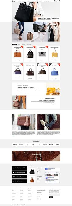 Trendy Bags Online Store #OpenCart #webtemplate #themes #business #responsive #template