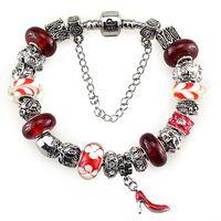 Fashion gifts murano glass charm beads Fit European Pandora Style Jewelry Bracelets & Bangles