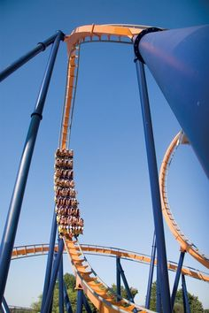 In search of a thrill? The Dominator is the world's longest floorless roller coaster, stretching 4,210 feet. #play