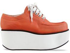 I love the 70's styling // Jil Sander Navy - Leather Lace Up Platform