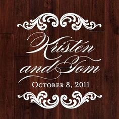 This is so cool... it's a dance floor decal that you can put in your wall after the wedding.
