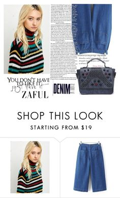 """""""Denim style"""" by difen ❤ liked on Polyvore featuring Betsey Johnson and Alima"""