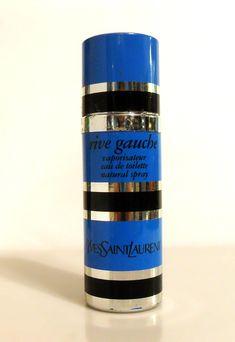 Vintage Perfume 1980s Rive Gauche by Yves Saint Laurent 1.6 oz Eau de Toilette Natural Spray by perfumefetish on Etsy https://www.etsy.com/listing/582974387/vintage-perfume-1980s-rive-gauche-by