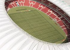 A lightweight roof with a leaf-shaped structure has been added to the Beira-Rio Stadium ahead of the 2014 FIFA World Cup
