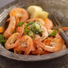 Sautéed Dublin Bay Prawns by Improper Butter. | the classic combination of prawns served with real garlic butter is hard to beat. Serve with crusty toasted bread and fresh salad.