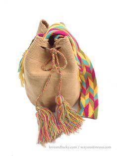 """Authentic Wayuu Bags Wayuu Mochila Size 11"""" x 9"""".wybag-42 on Etsy, $89.00"""