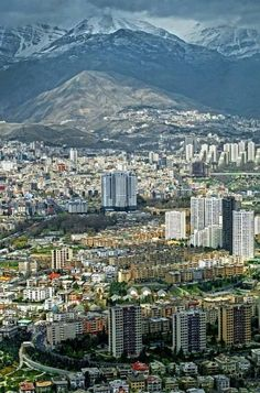 Beautiful Tehran. Actually the weather is not always like this. This weather is too clean but...
