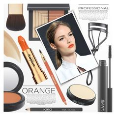"""""""Fall Beauty: Orange Crush"""" by anna-anica ❤ liked on Polyvore featuring beauty, NARS Cosmetics, AERIN, MAC Cosmetics, Sisley, Burberry, Lord & Berry, Beauty, orange and crush"""