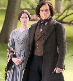 Ruth Wilson as Jane Eyre and Toby Stephens as Mr. Rochester in Jane Eyre (TV Mini-Series, Jane Austen, Jane Eyre Bbc, Jane Eyre Movie, Jane Eyre 2006, Elizabeth Gaskell, Charlotte Bronte, Toby Stephens, Bronte Sisters, Masterpiece Theater