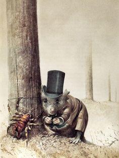 Herr Spider and Professor Field-mouse.  Mark Twain, A Strange Expedition, illus. Robert Ingpen (Sydney: P.I.C., 1988)