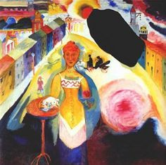 Wassily Kandinsky, lady in moscow -1912 on ArtStack #wassily-kandinsky-vasilii-vasil-ievich-kandinskii #art
