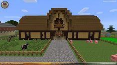 Afbeeldingsresultaat voor minecraft barns for animals Minecraft Horse Stables, Minecraft Barn, Minecraft House Plans, Minecraft House Tutorials, Cute Minecraft Houses, Minecraft House Designs, Minecraft Construction, Minecraft Blueprints, Minecraft Crafts