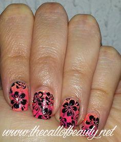 Nail Stamping Tutorial: Tropical Gradient
