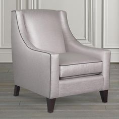 Modern Accent Chair With Sloped Arms
