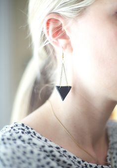 DIY: Geometric Earrings. Lovely idea, would be interesting to play around with it...