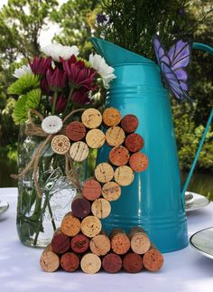 Wine Cork Table Numbers Wedding - Unique table number. $10.00, via Etsy.