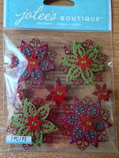 Jolee's Boutique  Felted Holly Flowers  by CynthiasCraftingNook