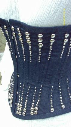 denim and diamond corset