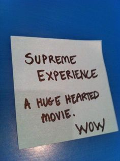 Handwritten note from audience - Supreme Experience (QLD)